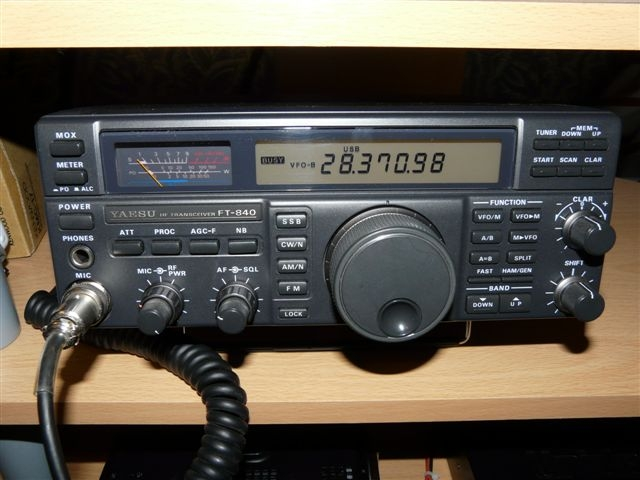 Yaesu FT840. A recent addition - nice budget price no-nonsense radio.